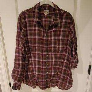 Converse plaid button down shirt